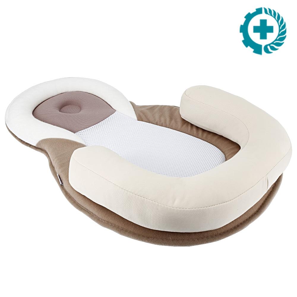 portable baby pillow nursery travel folding baby bed pillow bag infant toddler cradle walmart com