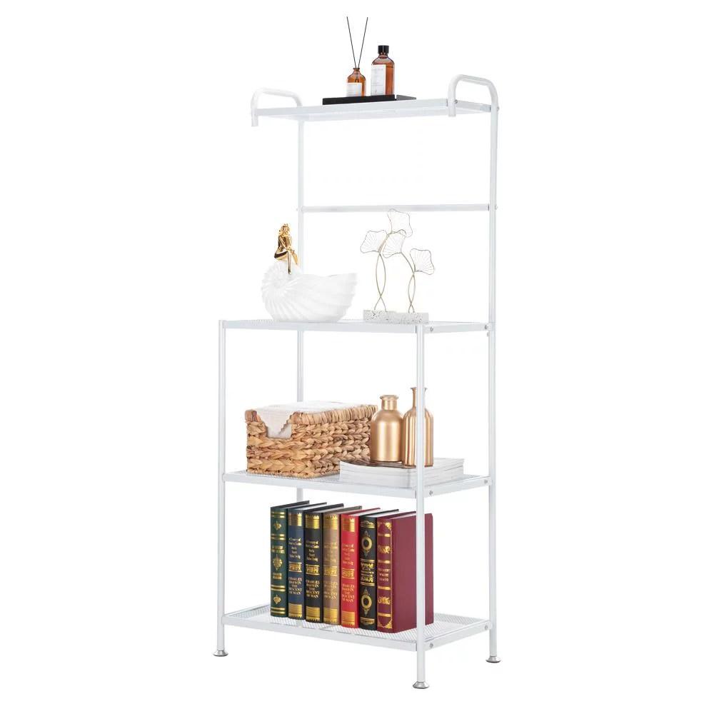 ktaxon 4 tier white bakers rack microwave stand storage rack