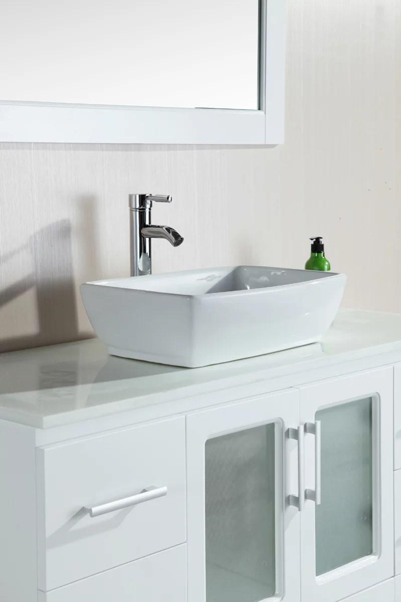 design element stanton 48 single vessel sink bathroom vanity set in white