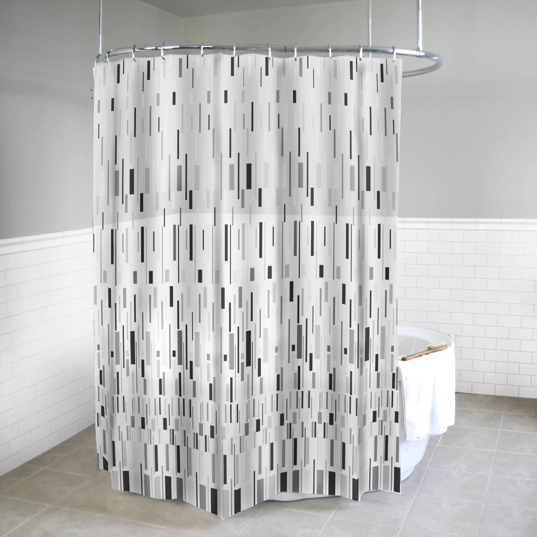 splash home bars peva shower curtain 72 x 70 grey