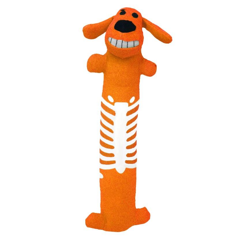 Multipet Loofa Halloween Skeleton Dog Toy, Orange ...
