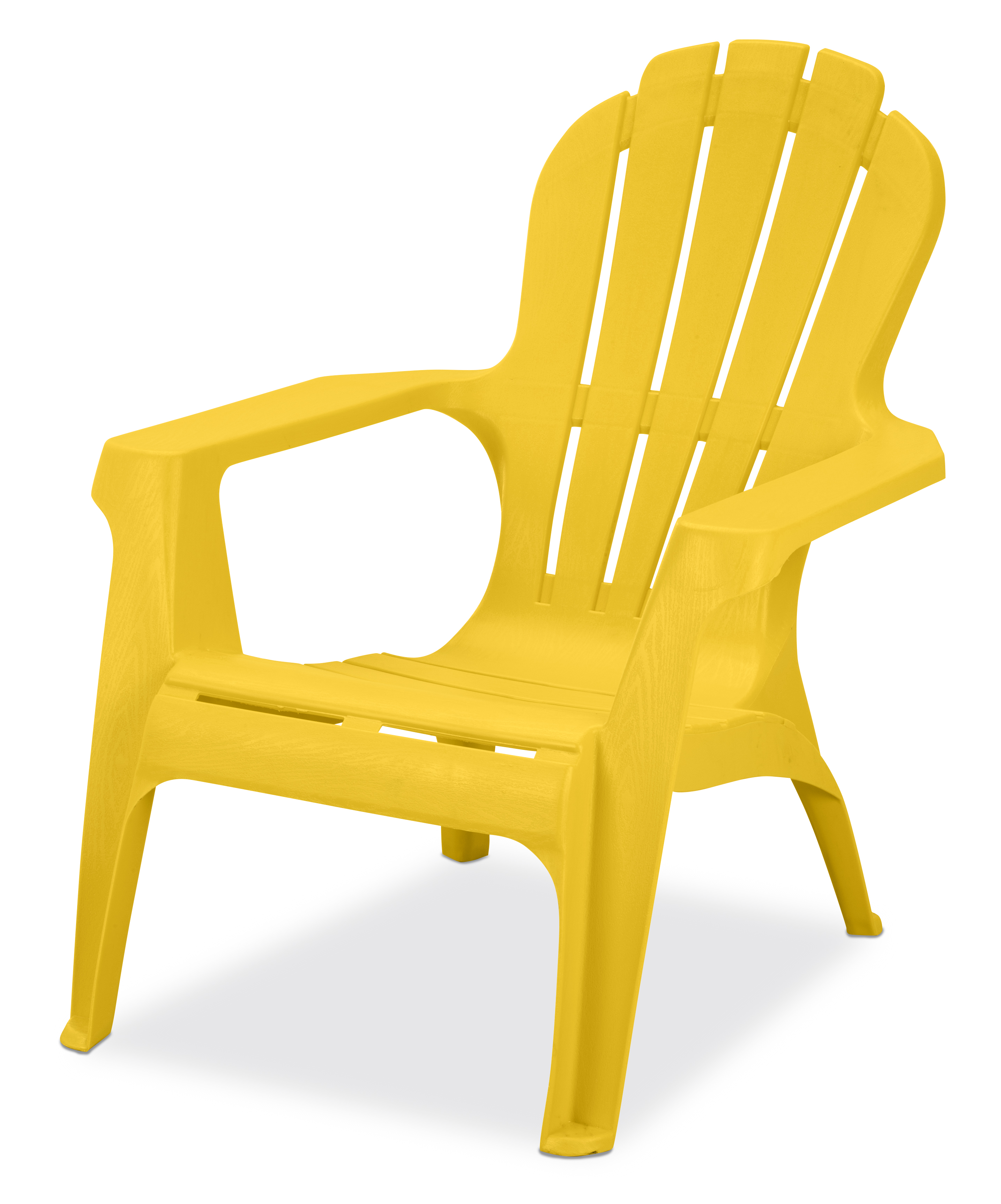 us leisure resin adirondack plastic patio furniture chair yellow