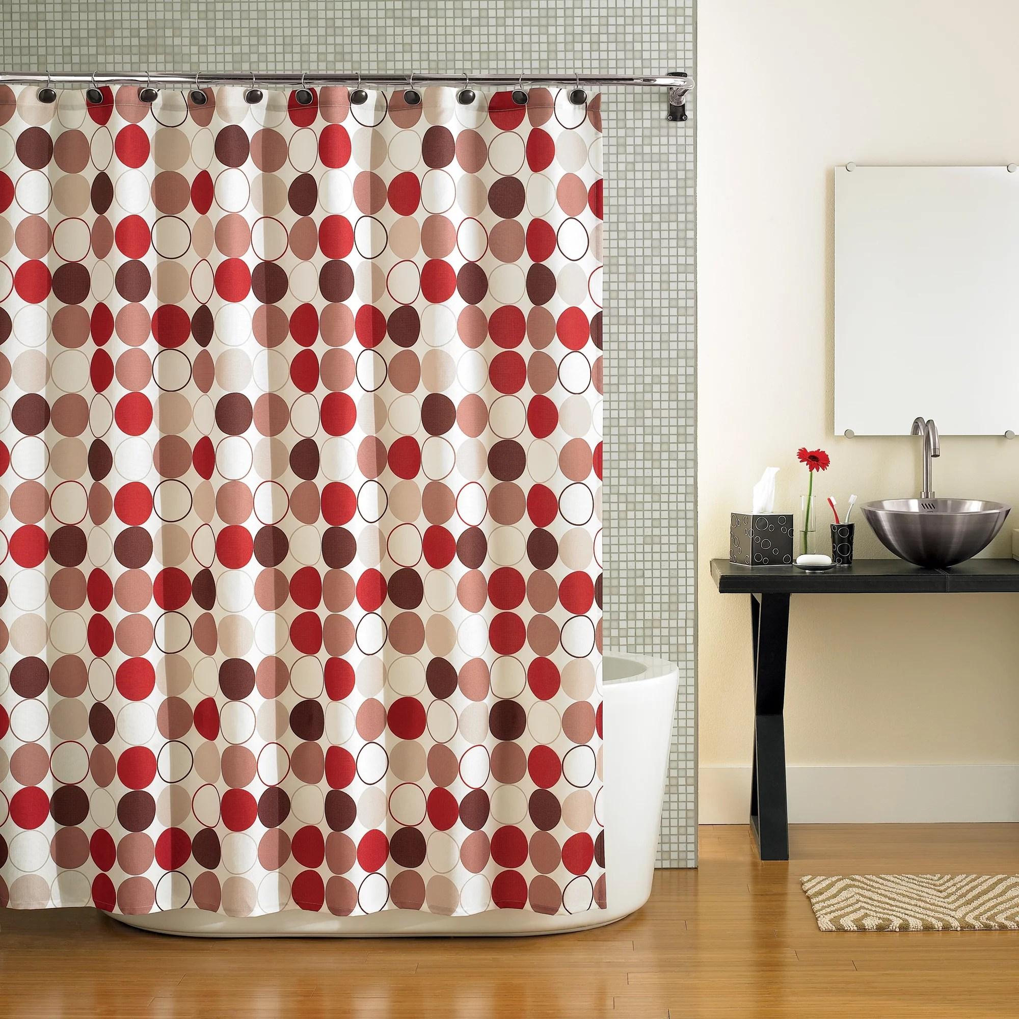 mainstays hometrends cirque red shower curtain 1 each walmart com