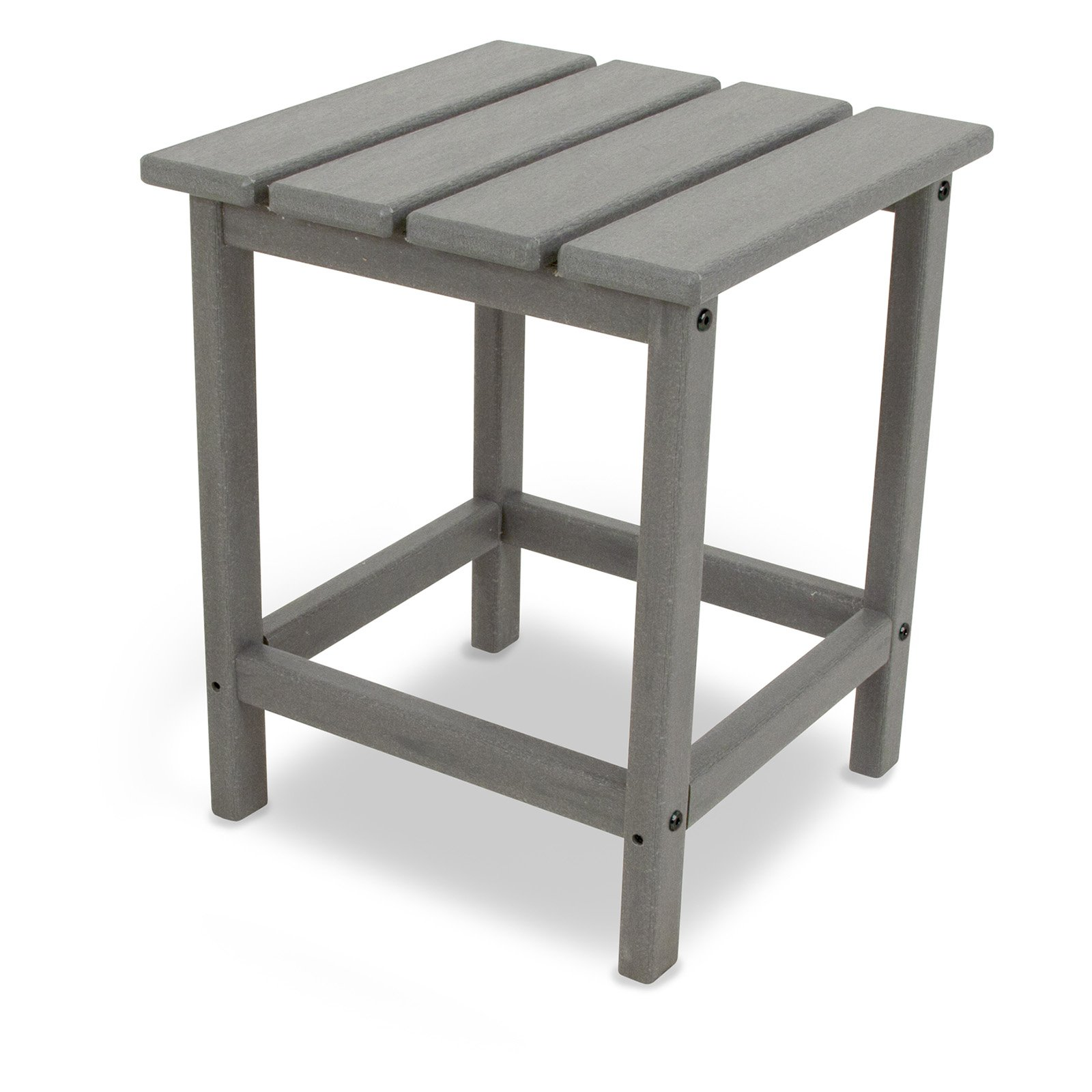 polywood long island recycled plastic 18h in outdoor side table