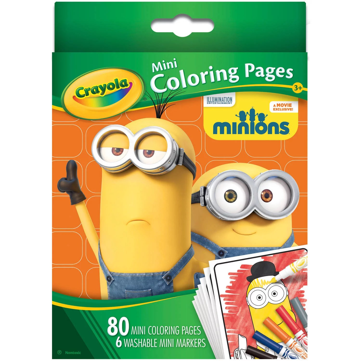 Crayola Minions T Set Includes Crayola Minions Ultimate Art Case Minions Mini Coloring Pages