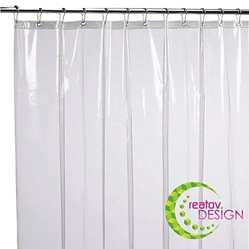 mildew resistant shower curtain liner 72x72 clear peva curtain for bathroom waterproof odorless eco friendly anti bacterial heavy duty metal