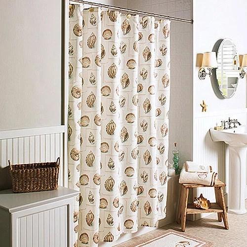better homes gardens shells shower curtain 1 each