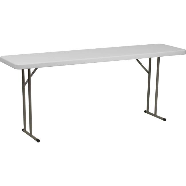 Flash Furniture Granite White Plastic Folding Training Table RB-1872-GG