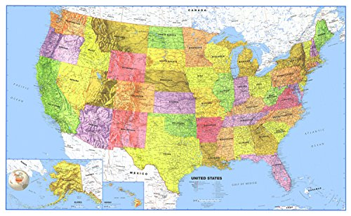 Lines, point, planes in 3d space. 24x36 United States Usa Us Premier Wall Map Paper Folded Walmart Com