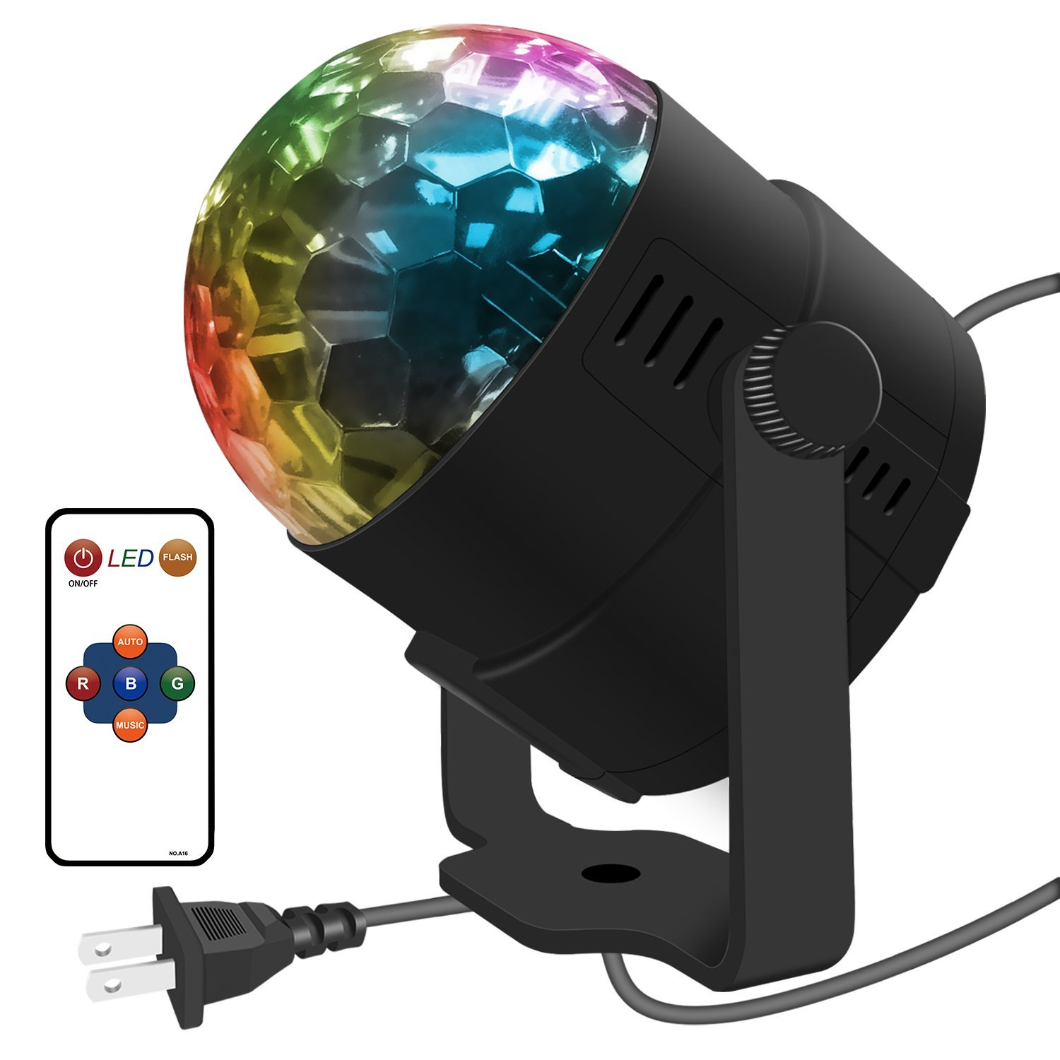 Kidsco Multi Color Led Strobe Light 360 Degree Rotating Ball