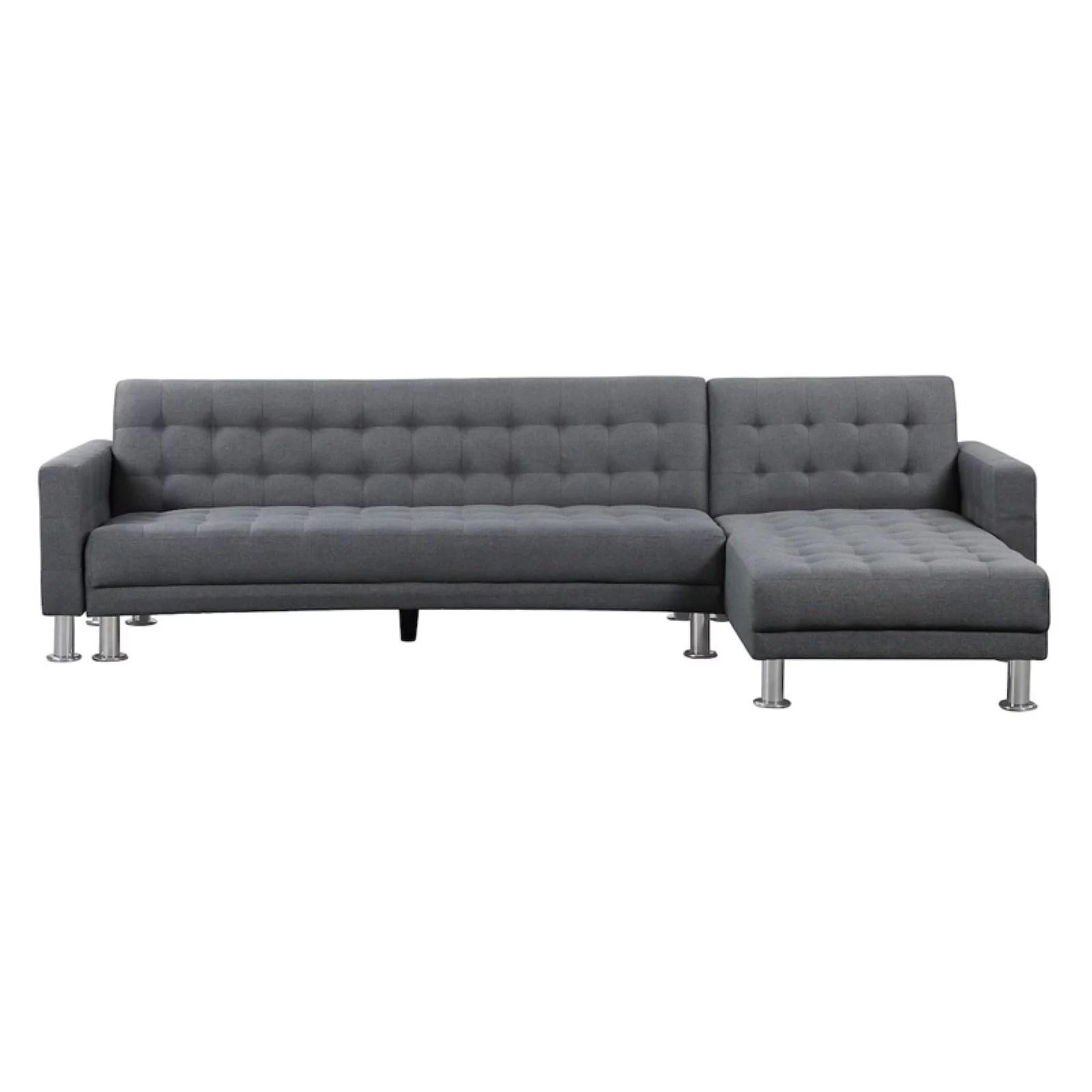 Velago Attalens Upholstered Fabric Sectional Sleeper Sofa