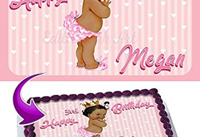 Princess Baby Girl Cake Image Personalized Edible Image Cake Topper