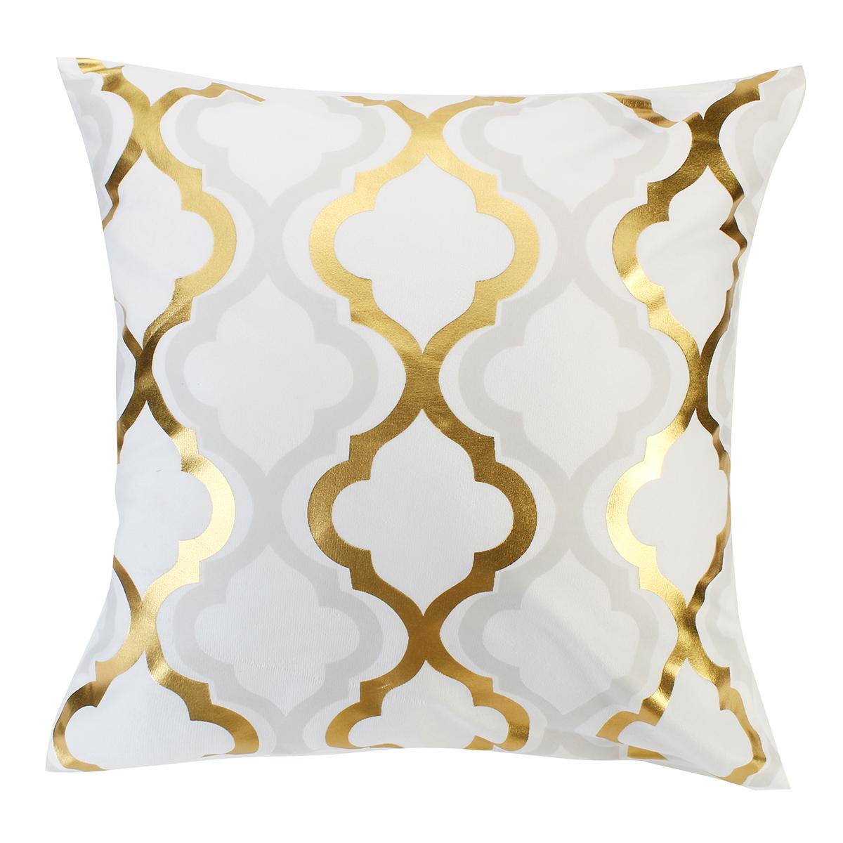 4 pillowcases 18 x 18 golden decorative cushion set pillowcase for sofa square pillow design office chair pillowcase bedroom study pillowcase