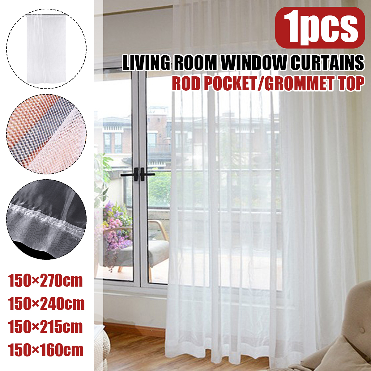 white sheer curtains 95 inches long for living room rod pocket drapes for bedroom voile window curtain 1 panel white