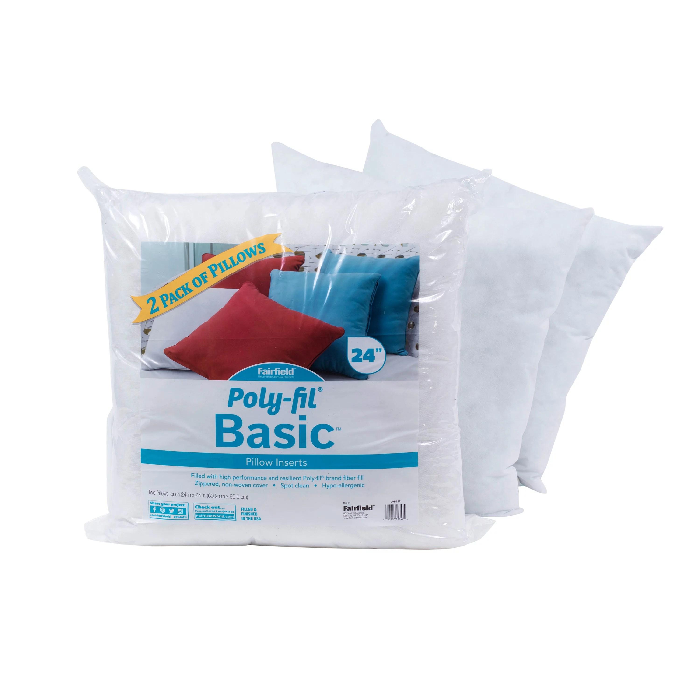 poly fil basic 24 x24 decorative pillow insert 2 pack