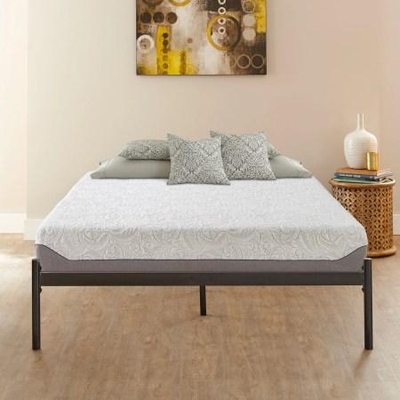 Premier Urban Loft Platform Base And Contura 10 Airflow Gel Memory Foam Mattress Bed Frame