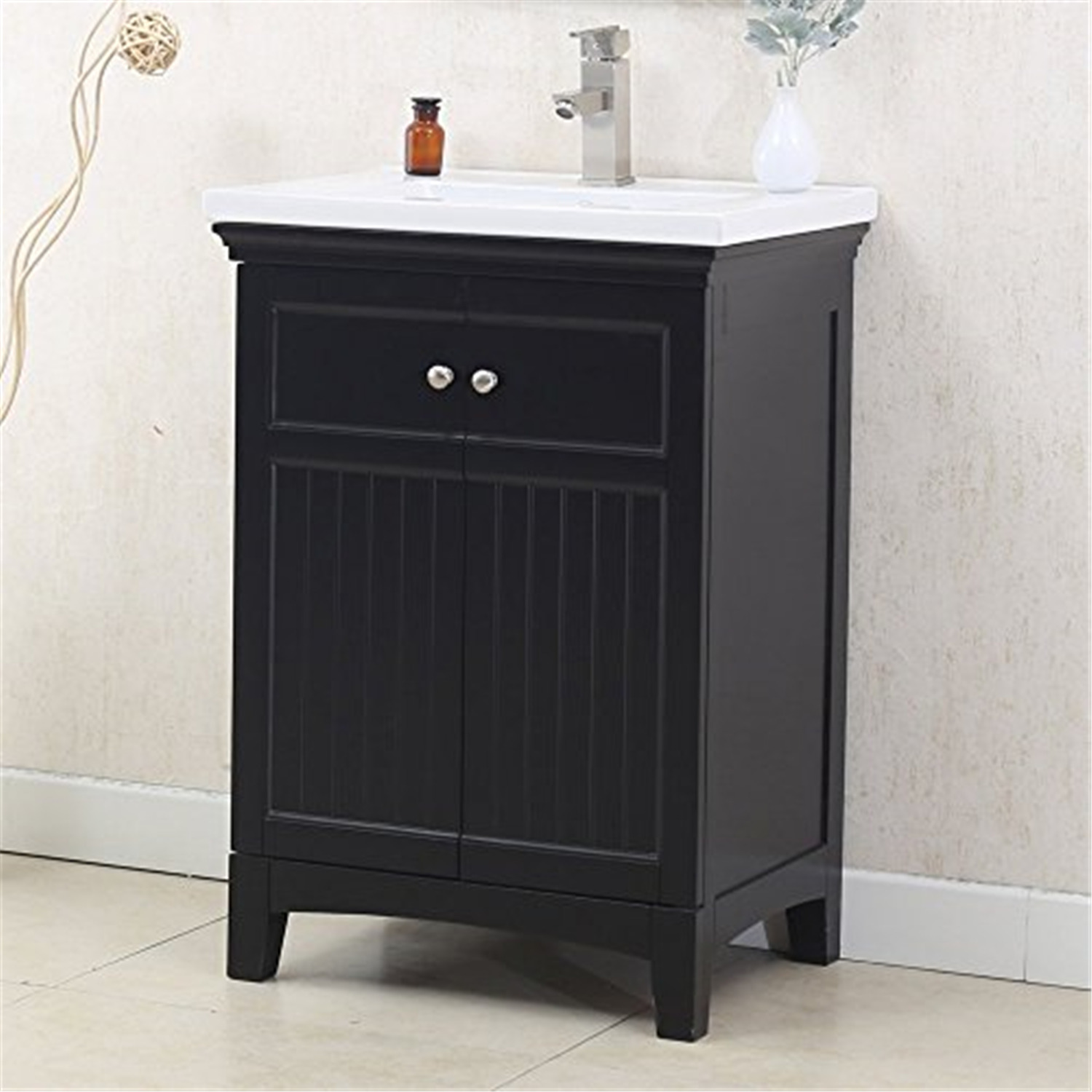 24 white sink vanity no faucet color white material solid poplar walmart com