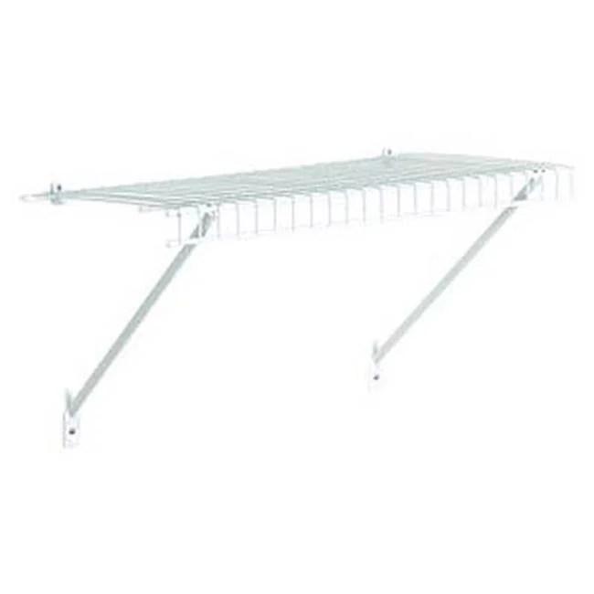 closetmaid 102100 2 ft x 12 in prepack wire shelf kit white