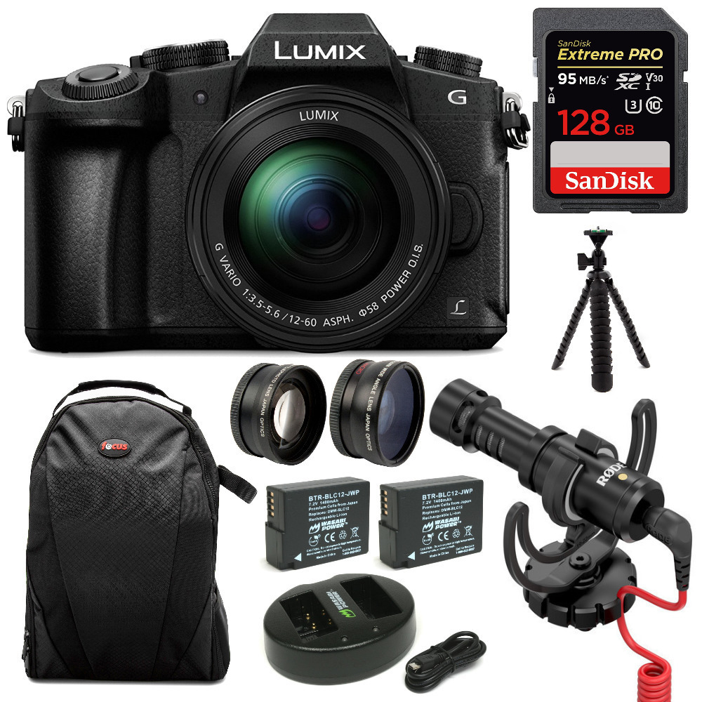 Panasonic LUMIX G85 Mirrorless Camera with 12-60mm Lens and 128GB SD Bundle