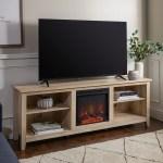Middlebrook Designs 70 Inch Fireplace Tv Console With Adjustable Shelving White Oak Walmart Com Walmart Com