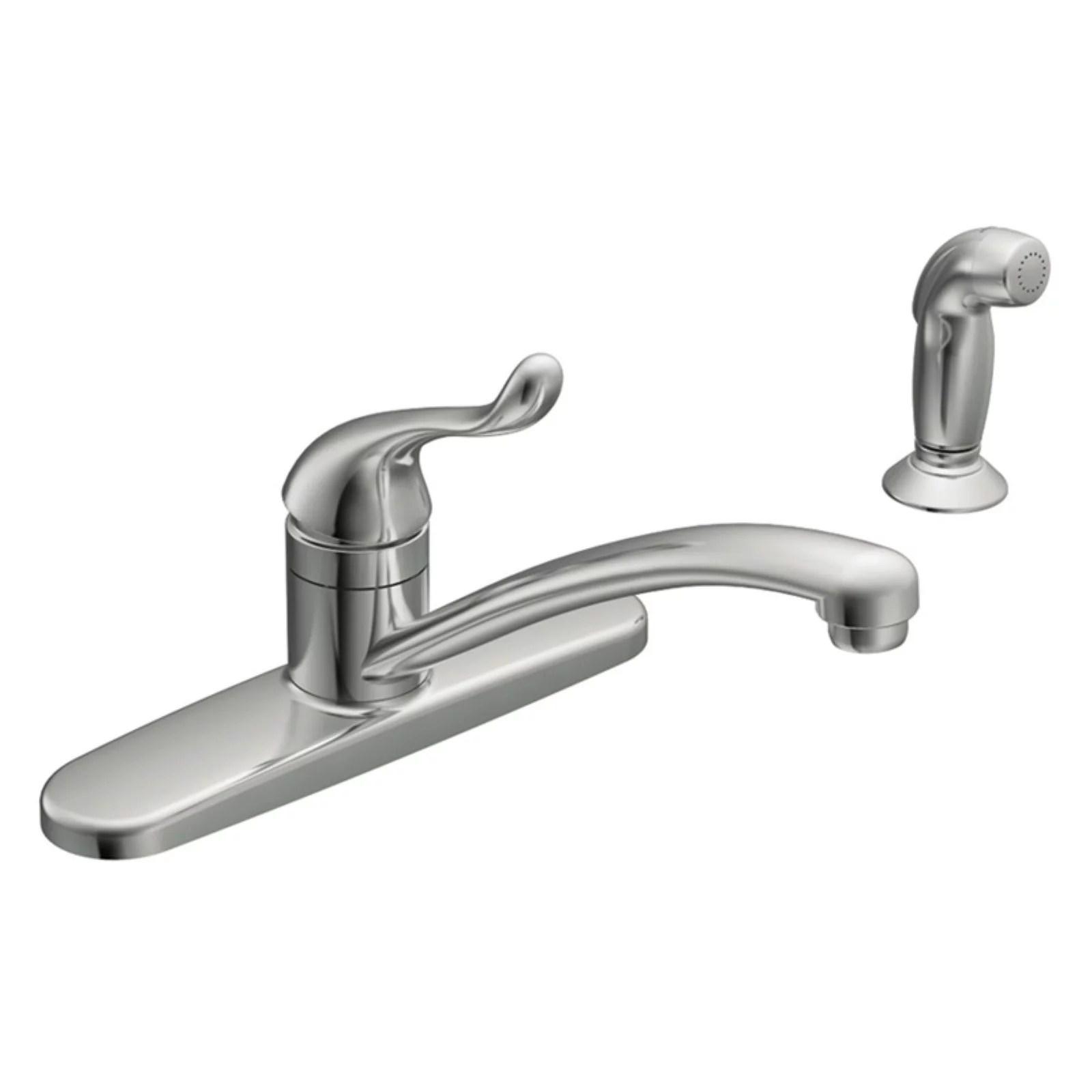 moen ca87530 chrome touch control 1 handle low arc kitchen faucet walmart com