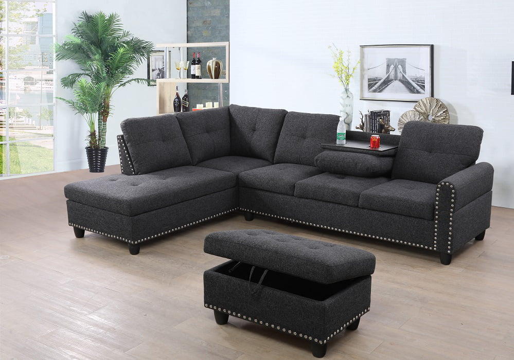 mulrey sleeper sectional with storage ottoman right left hand facing