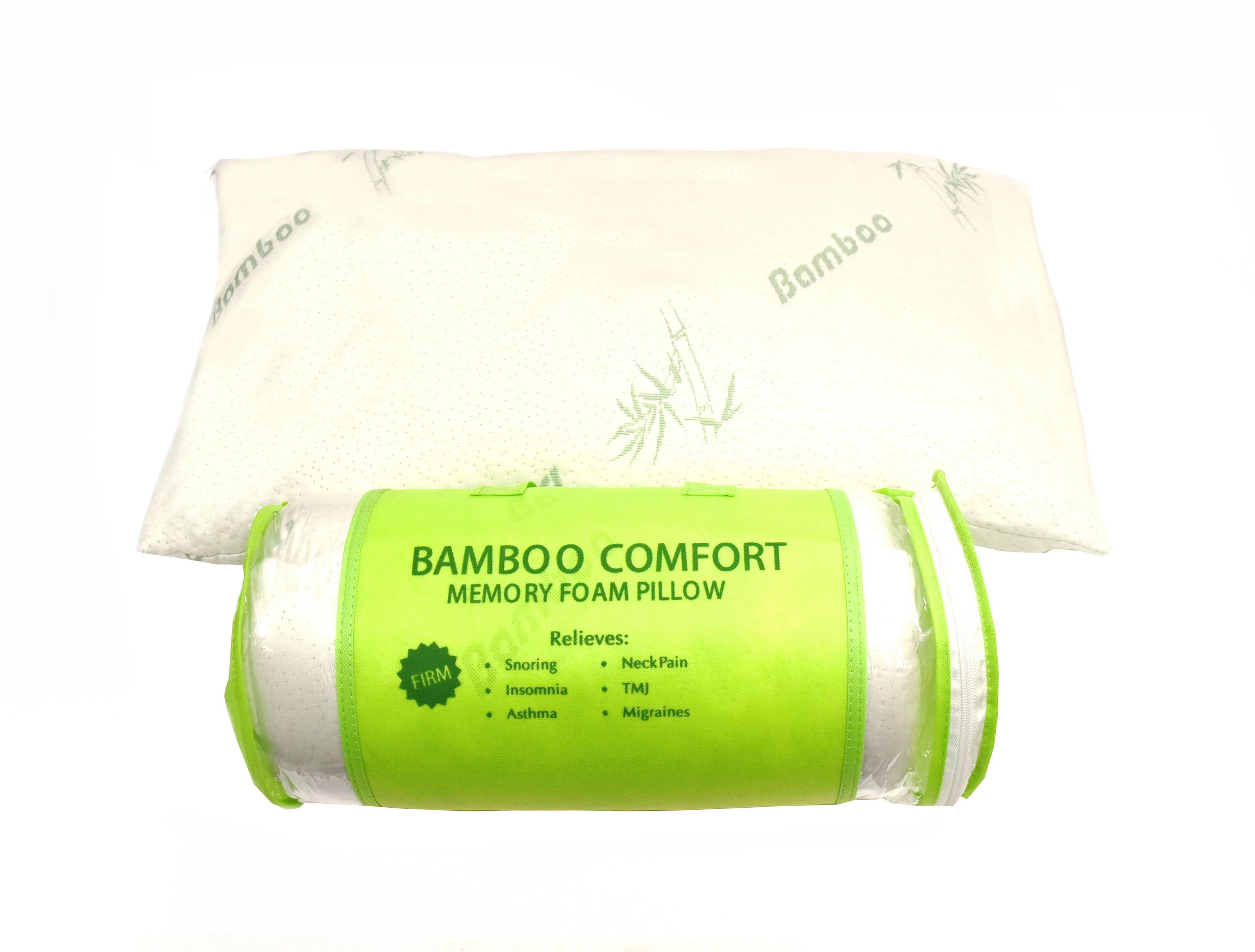 bamboo comfort memory foam bamboo pillow white walmart com walmart com