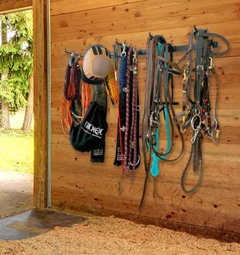 storeyourboard horse tack storage rack barn and tack room organizer heavy duty solid steel holds bridles reins bits stirrups harnesses leads