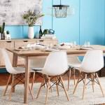 Walnew Pre Assembled Mid Century Modern Dining Chairs Set Of 4 Multiple Colors Walmart Com Walmart Com