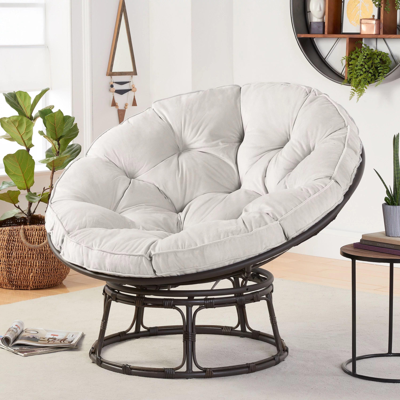 better homes gardens papasan chair with fabric cushion pumice gray walmart com