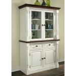 Home Styles Monarch China Cabinet White Amp Oak Walmart Com Walmart Com