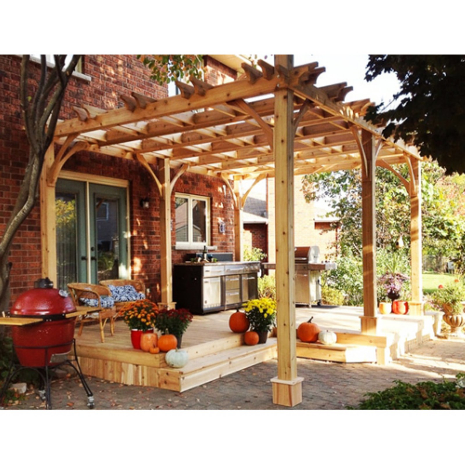Outdoor Living Today Breeze 10 x 16 ft. Pergola - Walmart.com on Ab And Outdoor Living  id=62123