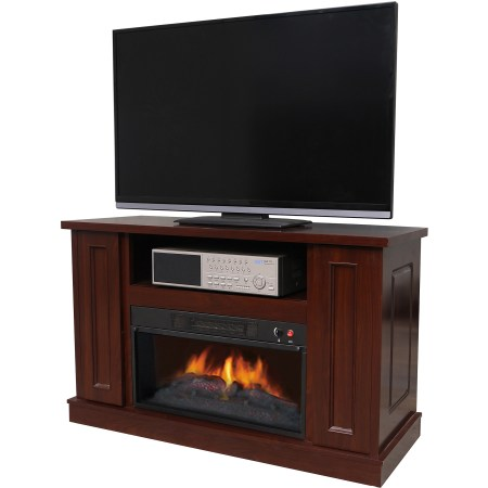 "Décor Flame Holmes 42"" Media Fireplace, for TVs up to 50"", Walnut"