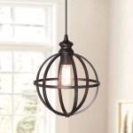 Instant Pendant Recessed Light Conversion Kit Brushed Bronze Globe Cage Shade Walmart Com Walmart Com