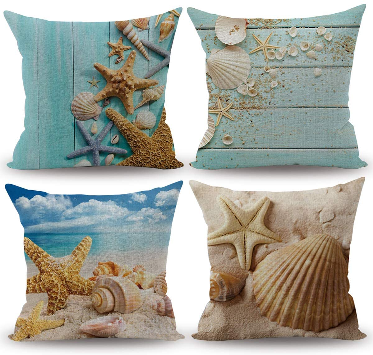 popeven beach throw pillow cover decorative ocean nautical theme coastal cushion covers for outdoor patio couch chair home fall christmas decor 4
