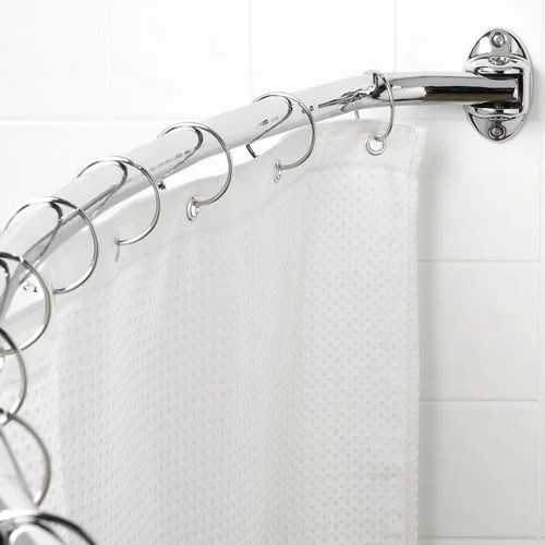 canopy curved hotel shower rod chrome