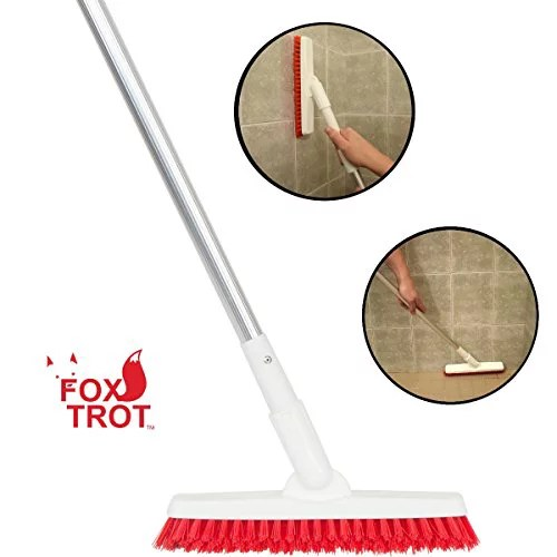 grout brush with long handle extendable telescopic handle kitchen shower tub tile scrub brush by foxtrot living