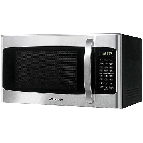 emerson stainless steel 1 1 cu ft front finish microwave oven walmart com