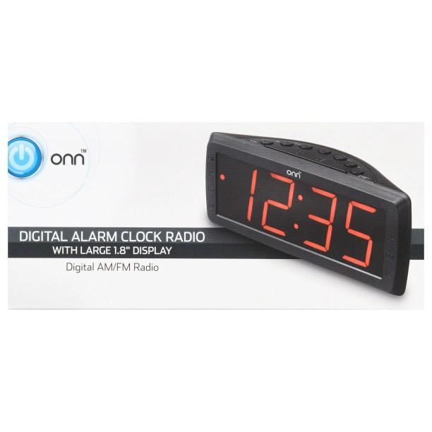 Onn Digital Alarm Clock Radio