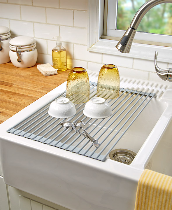 the lakeside collection roll up sink drying rack