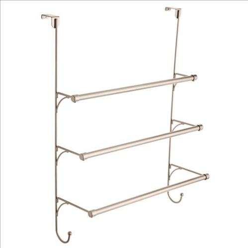 franklin brass over the door triple towel rack with hooks available in multiple colors