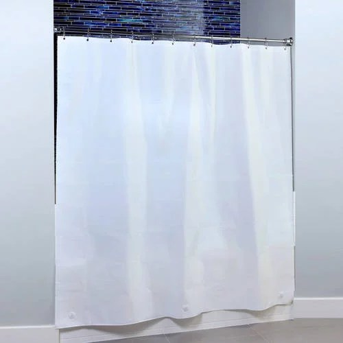 slipx solutions 82 in x 74 in extra wide peva shower liner