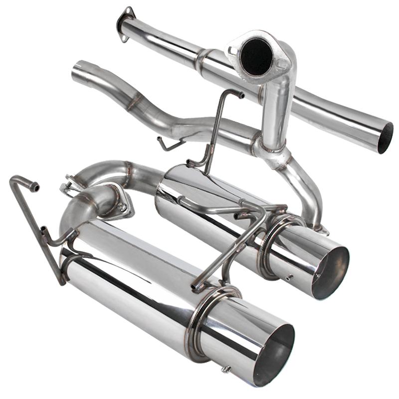 spec d tuning 4 stainless catback exhaust dual tip system for 2008 2014 subaru impreza wrx sti sedan walmart com