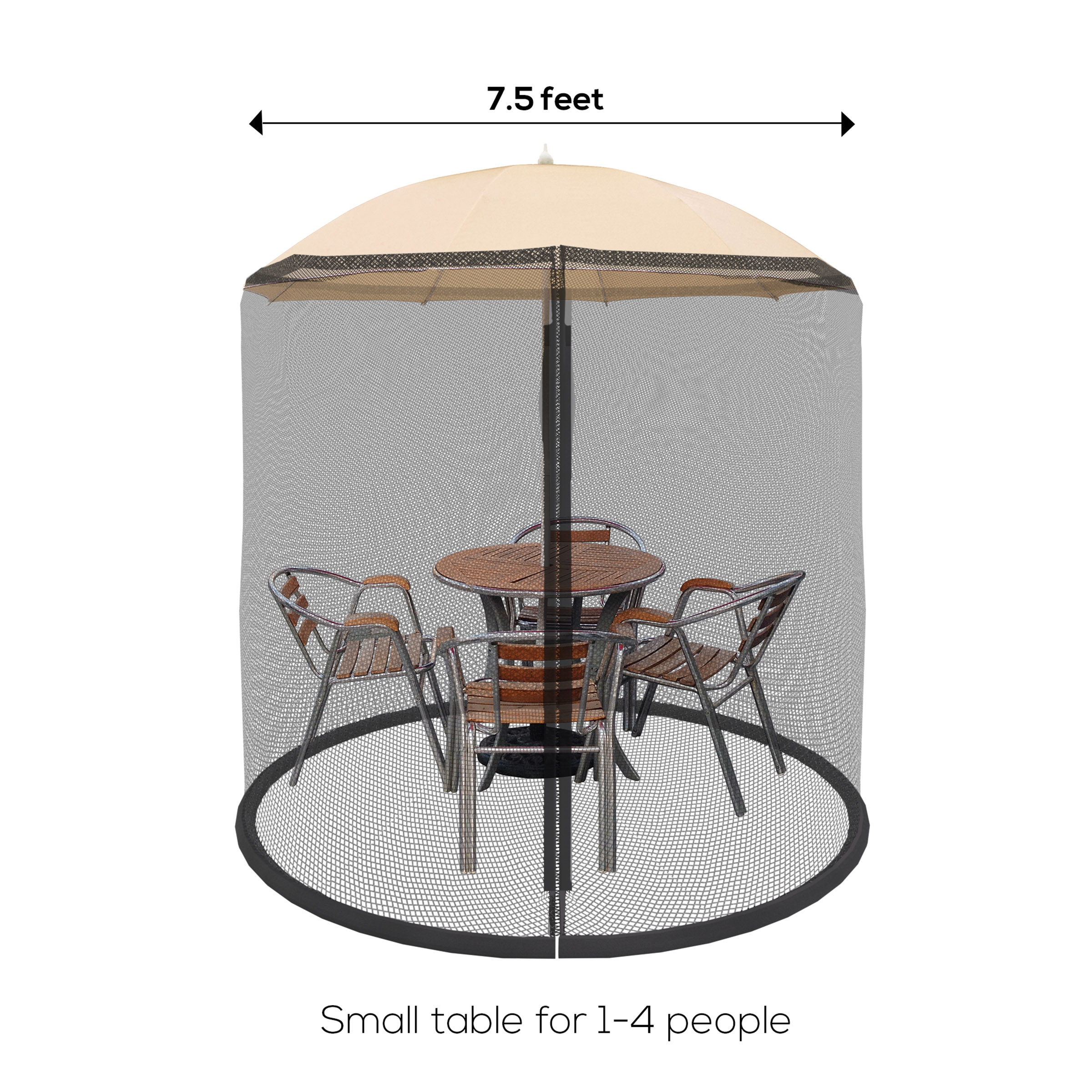 pure garden mosquito netting screen for patio table umbrella 7 5 ft diameter polyester
