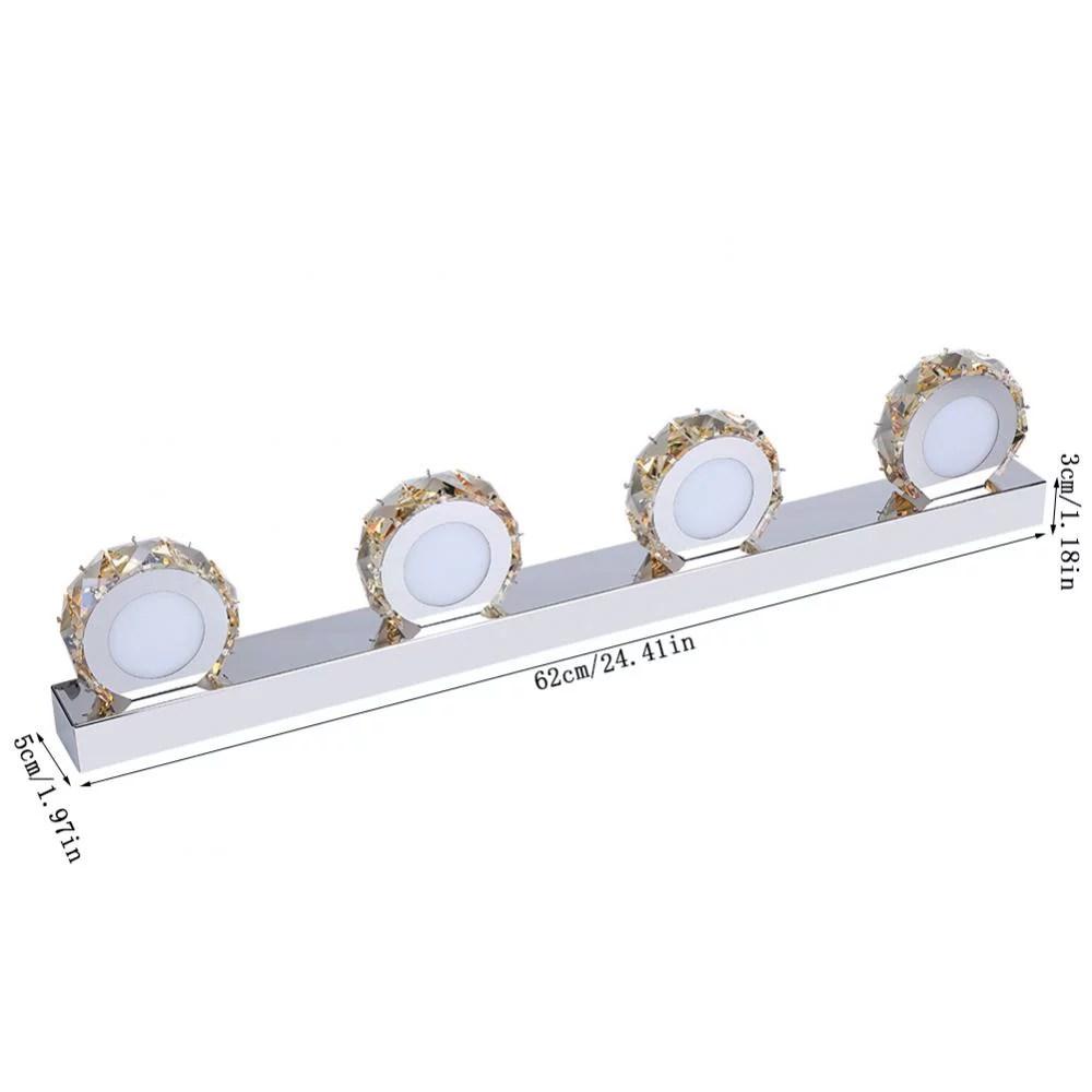 yosoo vanity lights led bathroom light fixtures crystal 4 light make up mirror front lighting for bedroom dresser wall painting