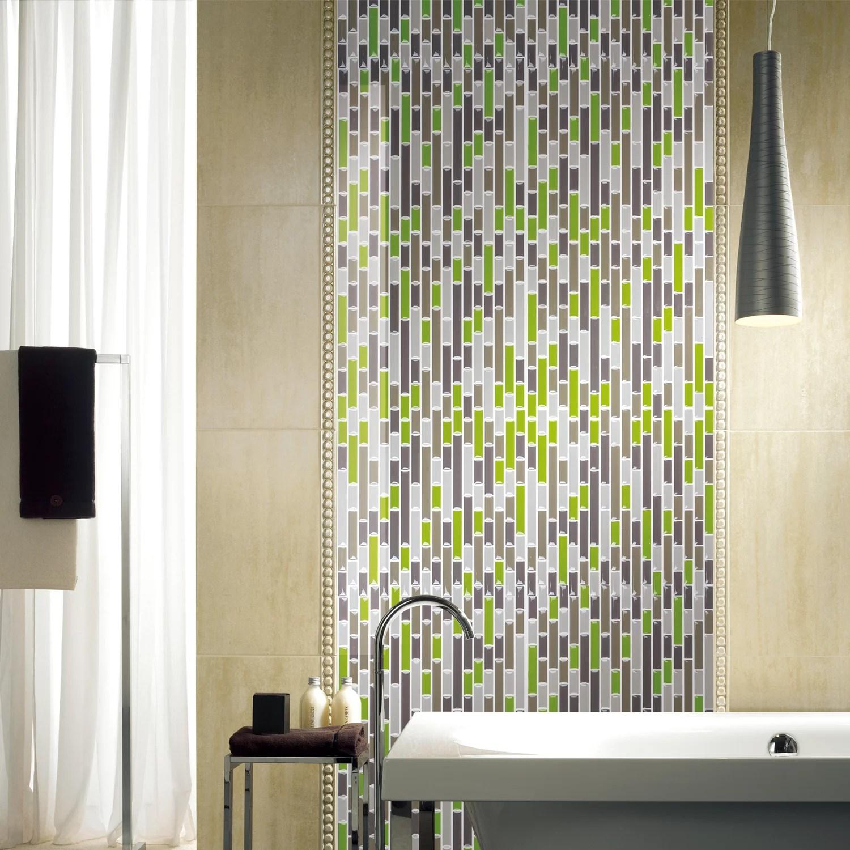 art3d smart brick green 12 in x 12 in peel and stick wall tile backsplash 10 pack walmart com