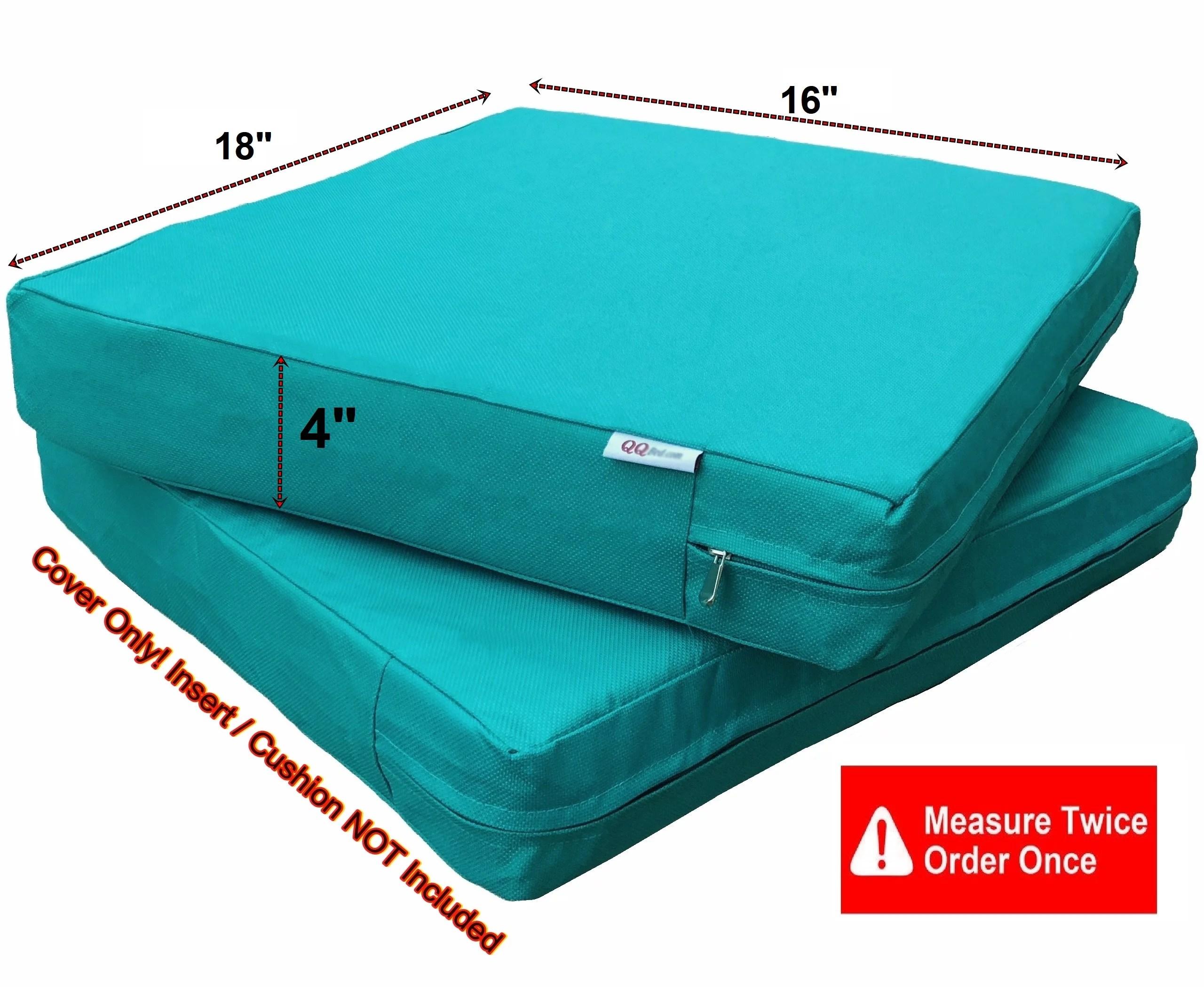 waterproof outdoor 4 pack deep seat chair patio cushions zipper cover 18 x16 x4 duvet replacement case