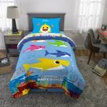 Baby Shark Bed In A Bag Kids Bedding Bundle Set 5 Piece Full Walmart Com Walmart Com