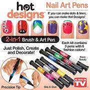 Hot Designs Nail Art Pens Bo Set Basic Beauty And Glitz Glam
