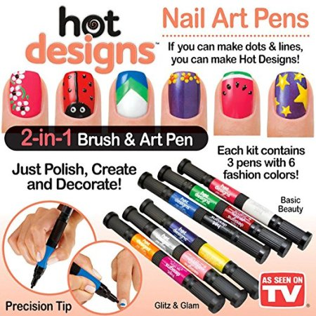 Hot Designs Nail Art Pens Bo Set Basic Beauty And Glitz Glam